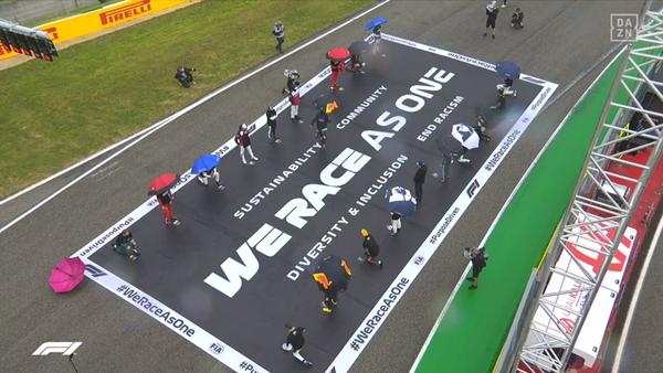 F1の統一イニシアチブ #WeRaceAsOne と人種差別へのメッセージ