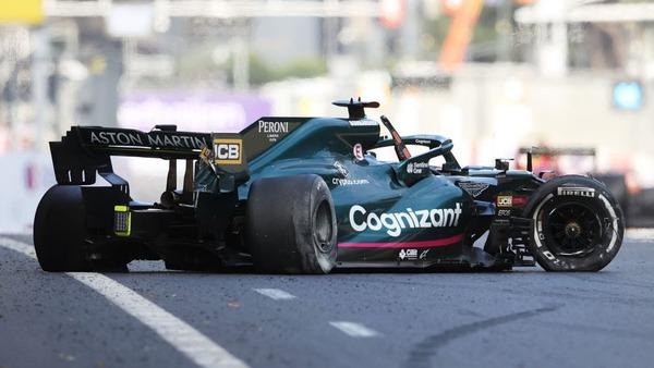 ランス・ストロール、クラッシュ:2021年F1アゼルバイジャンGP