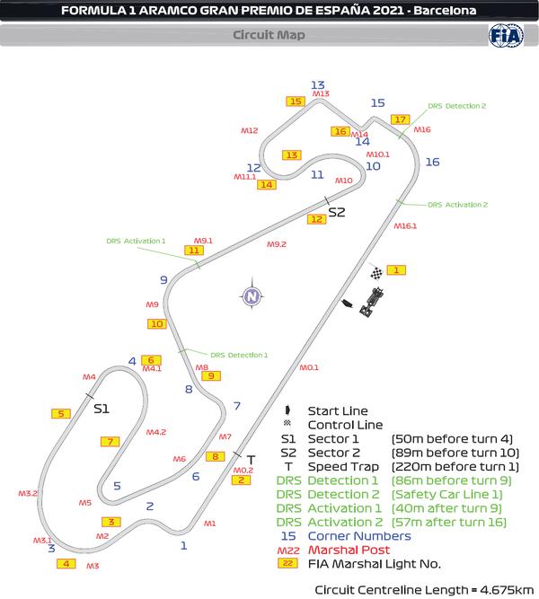 シルクイート・デ・バルセロナ-カタルーニャ(カタロニア・サーキット)2021年F1スペインGP