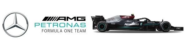 メルセデスF1チーム・ロゴとメルセデスW12