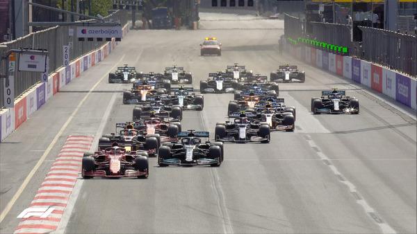 2021年F1アゼルバイジャンGPスタート