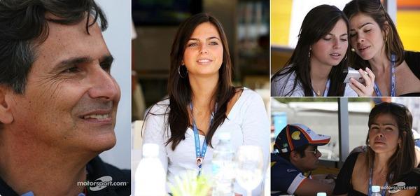 ネルソン・ピケ、ケリー・ピケ(ネルシーニョの妹)、ピケ・ジュニア(ネルシーニョ)、ピケの妻ヴィヴィアン(ジュニアとケリーの義母):2008年F1スペインGP