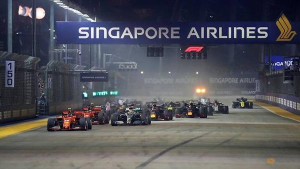 2019年F1シンガポールGPスタート