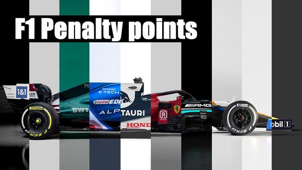 F1ドライバーのペナルティポイント