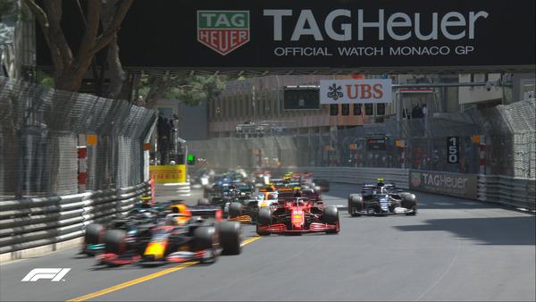 2021年F1モナコGPスタート