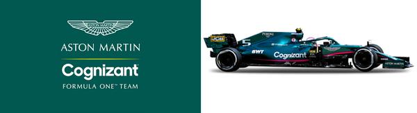 アストンマーティンF1チーム・ロゴとアストンマーティンAMR21