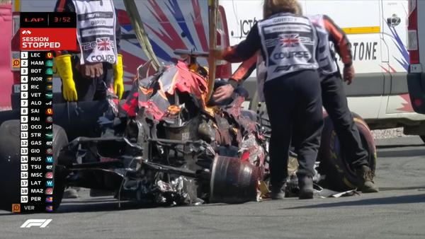 片側がつぶれたフェルスタッペンのマシン:2021年F1イギリスGP