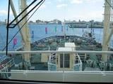 日進丸のブリッジから見た船首方向