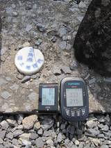 三角点で大気圧方式とGPS方式の高度計を比較