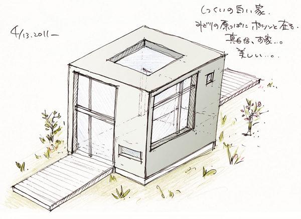 しっくいの白い家