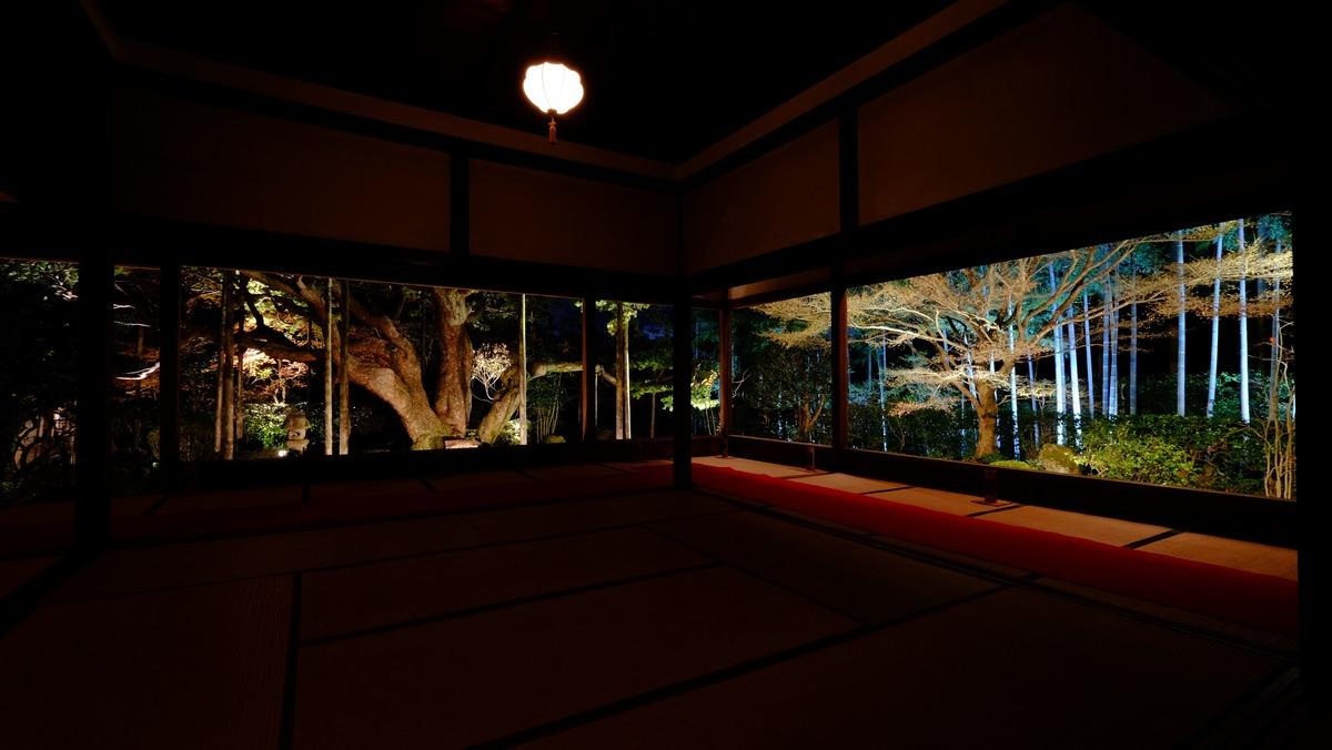 宝泉院_夜灯り-2