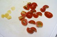 ミニトマトとバジルのペペロンチーノ05