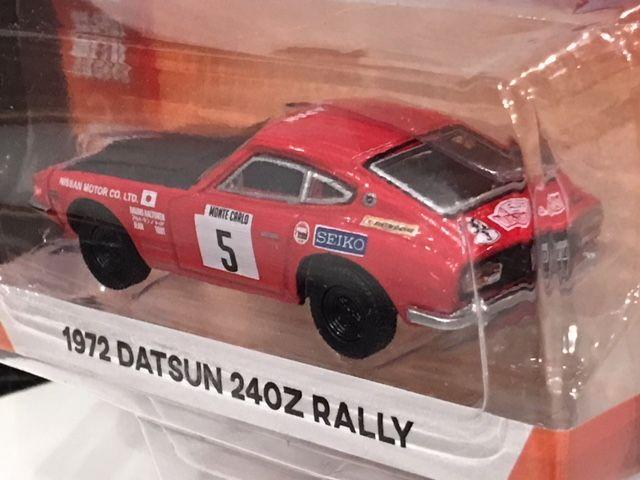1972 Datsun 240z rally monte carlo Seiko ** GreenLight Tokyo torque 1:64 nuevo