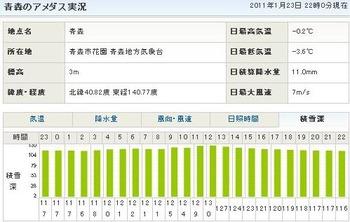 コピー 〜 201101232200積雪