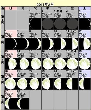 201102月齢カレンダー