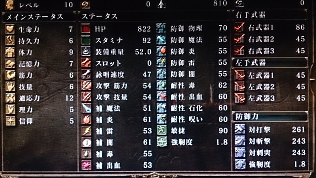 力 適応 ソウル ダーク 2
