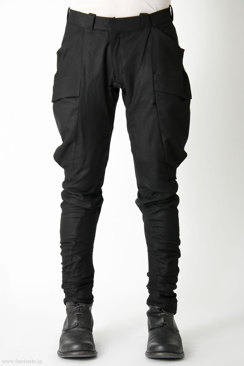 Devoa Big Pocket Pants-bl