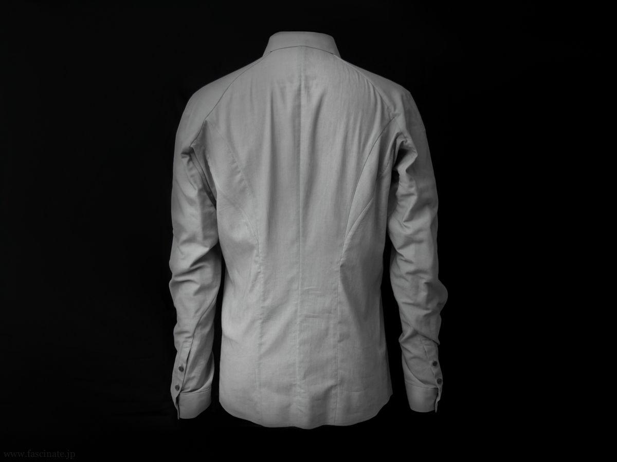 Devoa Charcoal Dyed Cotton Shirt 4