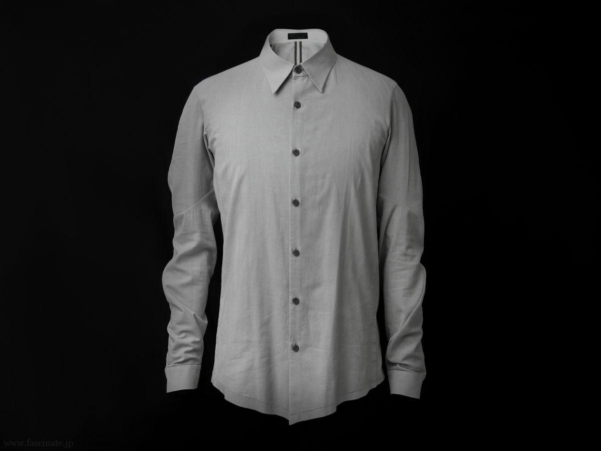 Devoa Charcoal Dyed Cotton Shirt 1