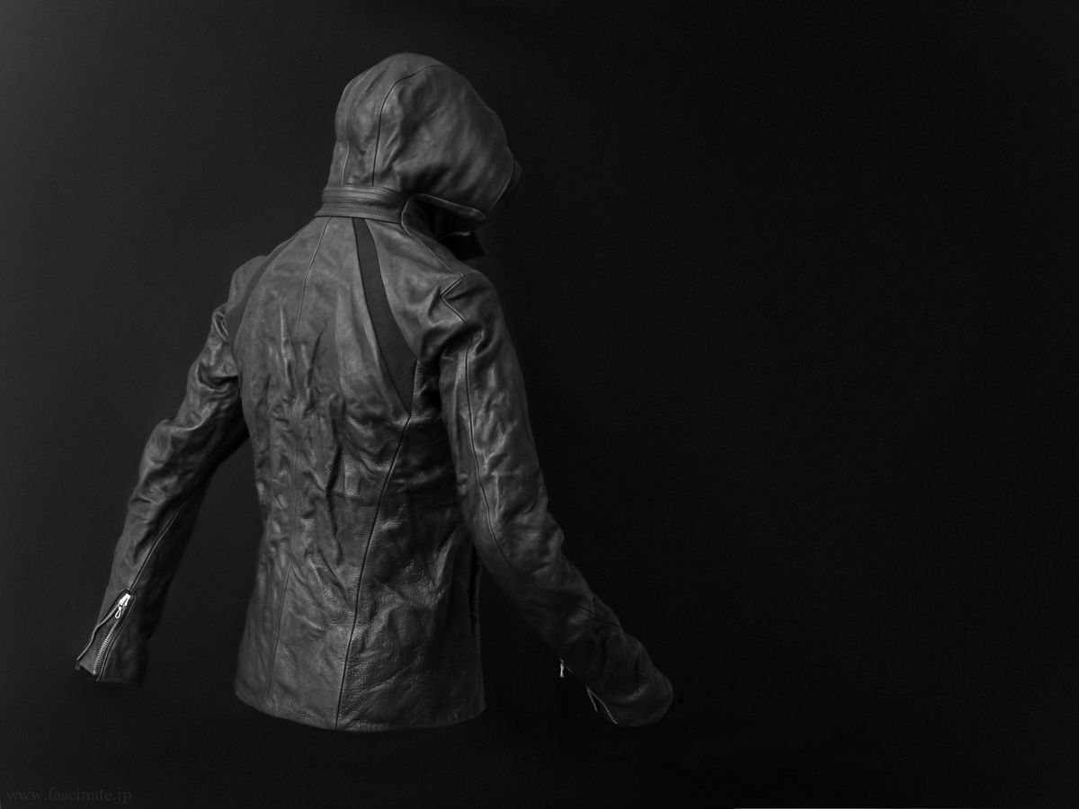 Devoa Cow Leather Hooded Jacket 3