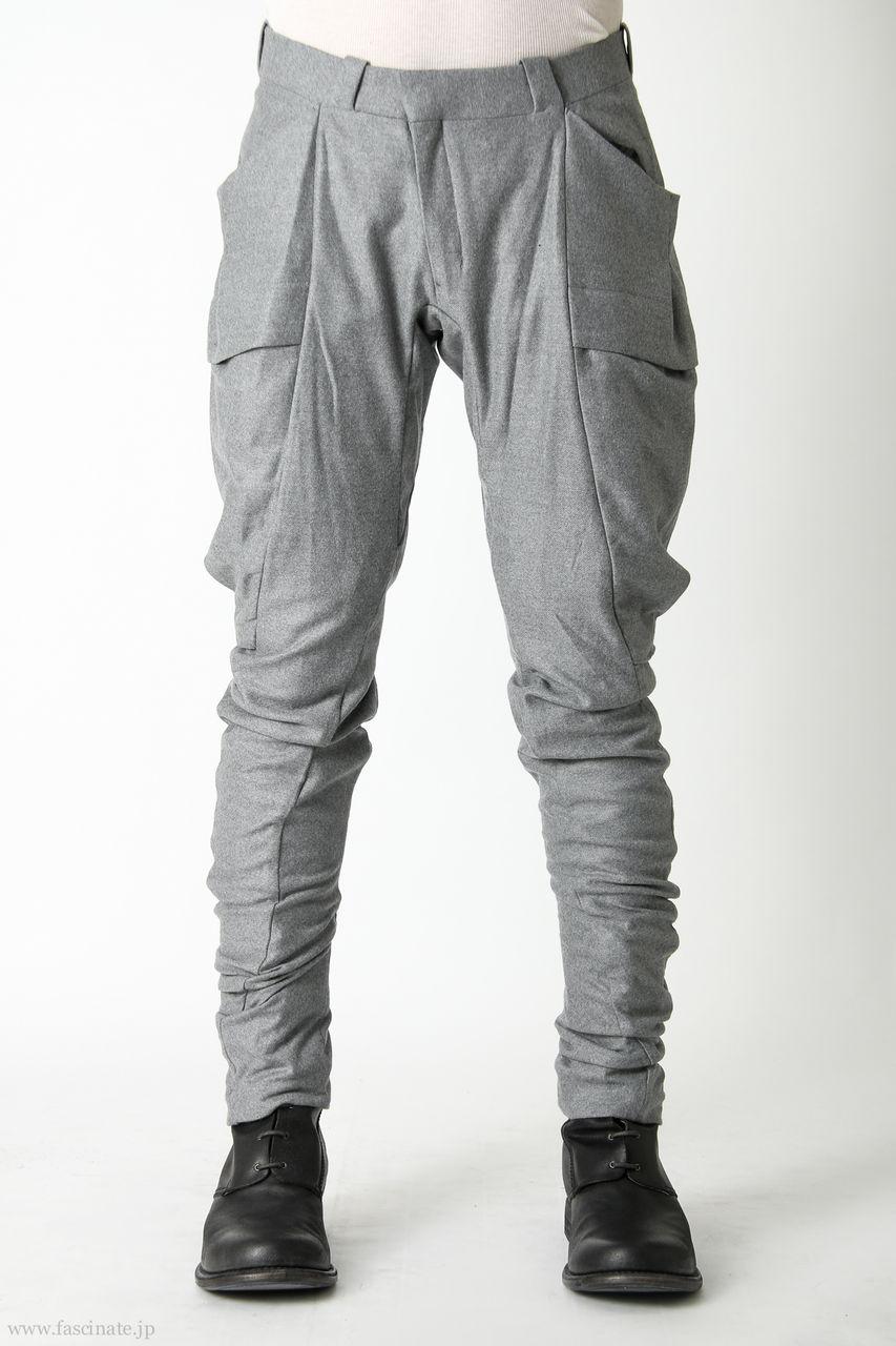 Devoa Big Pocket Pants-Wool gr