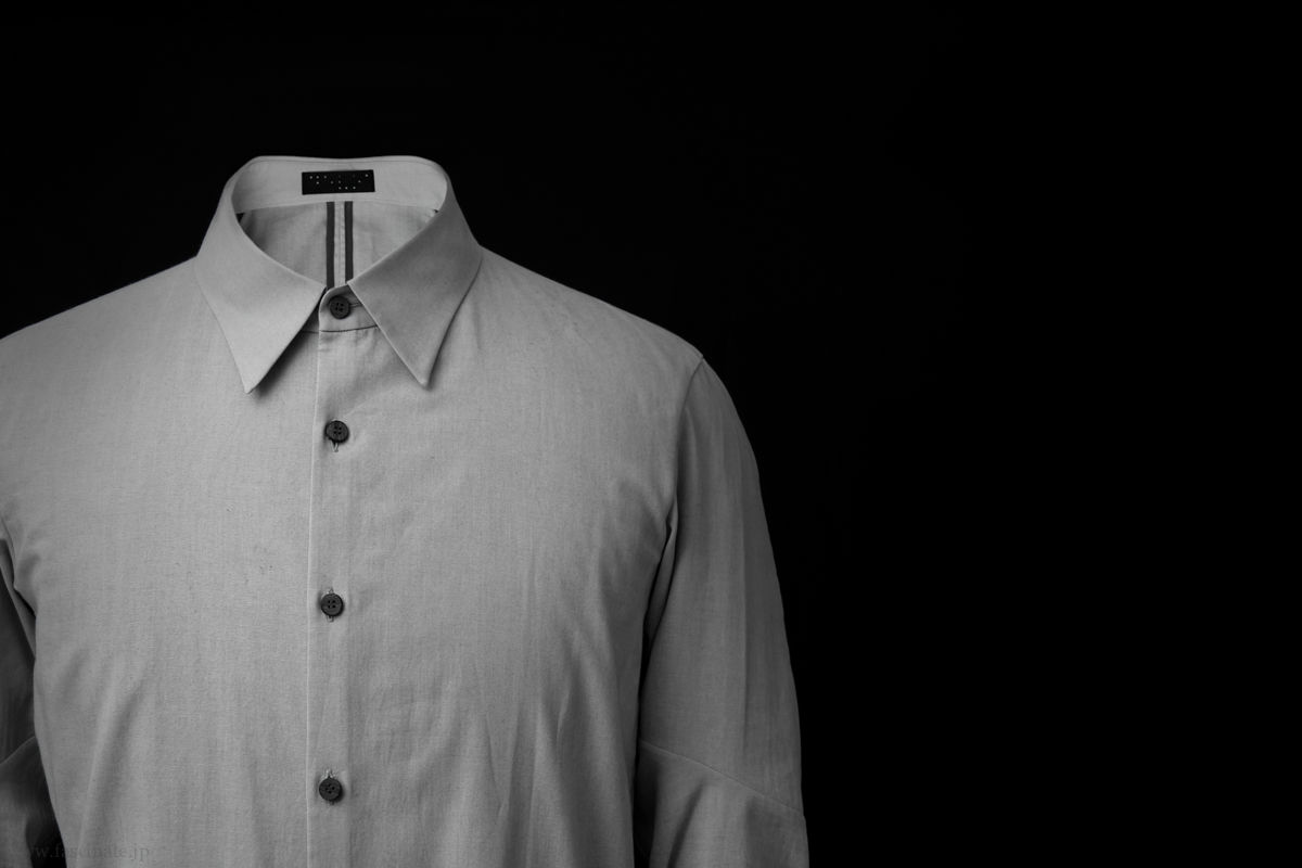 Devoa Charcoal Cotton Dyed Shirt 2