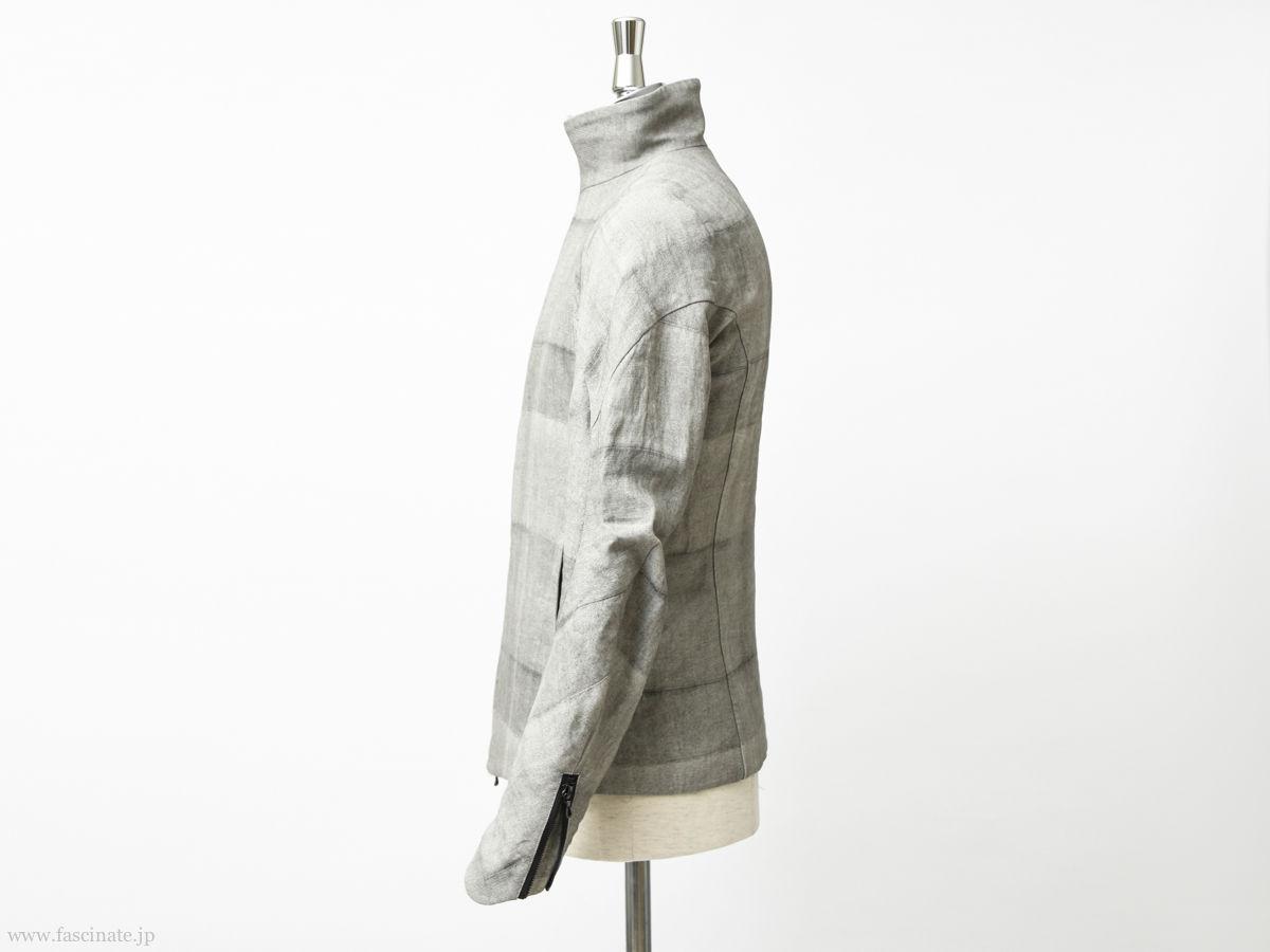 Devoa Washi Random Check Jacket-3