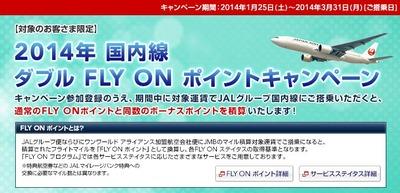 国内線 ダブル FLY ON ポイントキャンペーン
