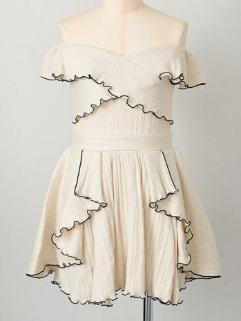 ファッションウォーカー人気ランキング Rosarymoon (ロザリームーン) テレコオフショルダーワンピ