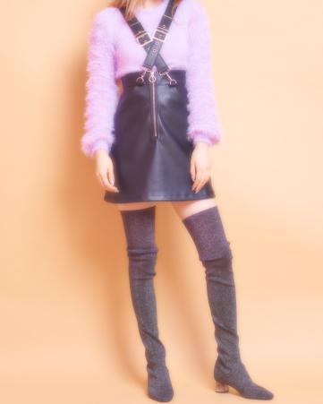 lilLilly (リルリリー) クロスサスペンダースカート2
