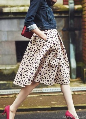 アプワイザーリッシェで今売れているダルメシアンスカート AneCan 2015年10月号掲載