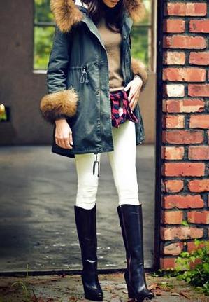 ルイ・ルエ・ブティックのファー付ミリタリー風モッズコートがこの冬大人気!