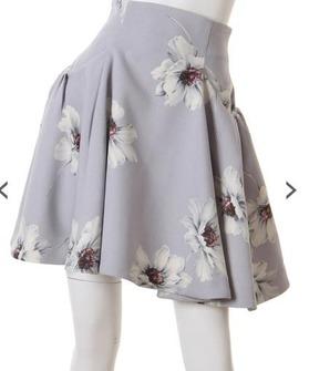 スナイデル snidelのマーガレットプリントスカート