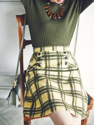 ファッションウォーカーアプワイザー 起毛チェックスカート