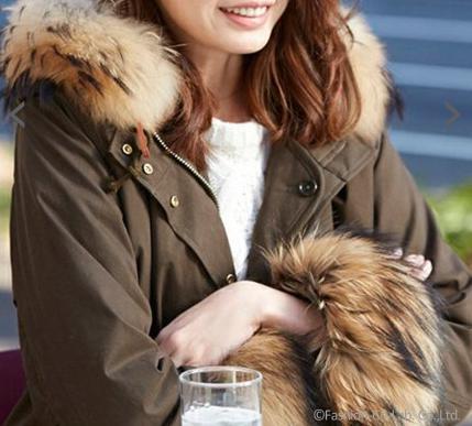 北川景子さんが独身貴族 第6話で着用したリチウムファム (LITHIUM FEMME)のOLMETEX 袖ファーモッズコート