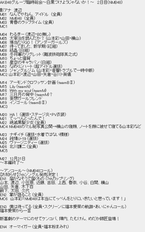 NMB_budoukann_set_list