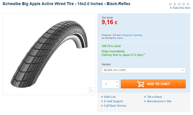 Schwalbe Big Apple Active Wired Tire   14x2 0 Inches