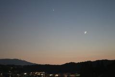新月と明星