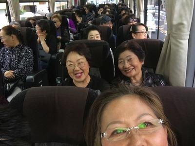 フォーデイズバス車内①