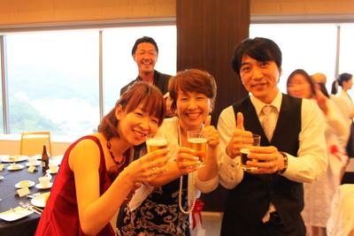 三原さん乾杯