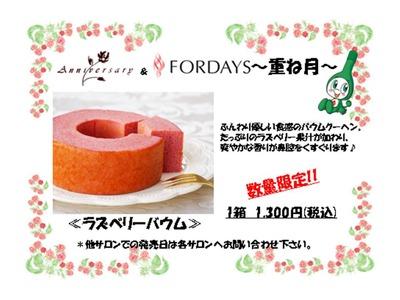フォーデイズ東京サロン ラズベリーバウム