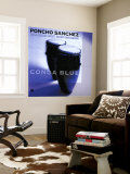 -Poncho-Sanchez-Conga-Blue-Posters