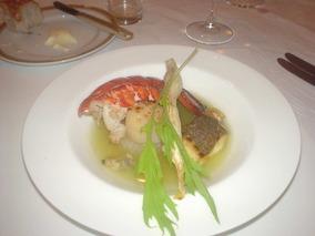 オマール海老と真鯛のポワレ