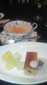 デザートと柚子ティー