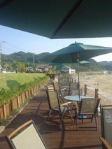 ビーチサイドのカフェ♪