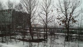 電車待ちの雪景色♪