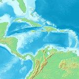 カリブ海地図
