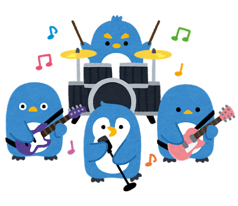 animal_penguin_music_band