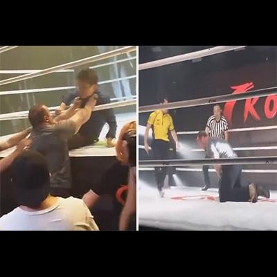 中国の格闘技イベント。カンフーの達人に「絶対勝てる!」と乱入した白人の大男はこうなる…