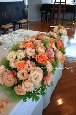 ヴィンテージジェラートの装花